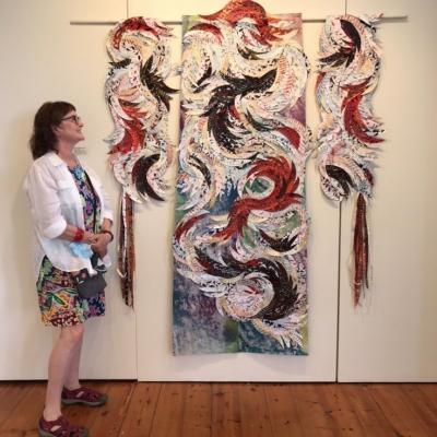 Kimono at Art Textile Biennale with Louise Saxton